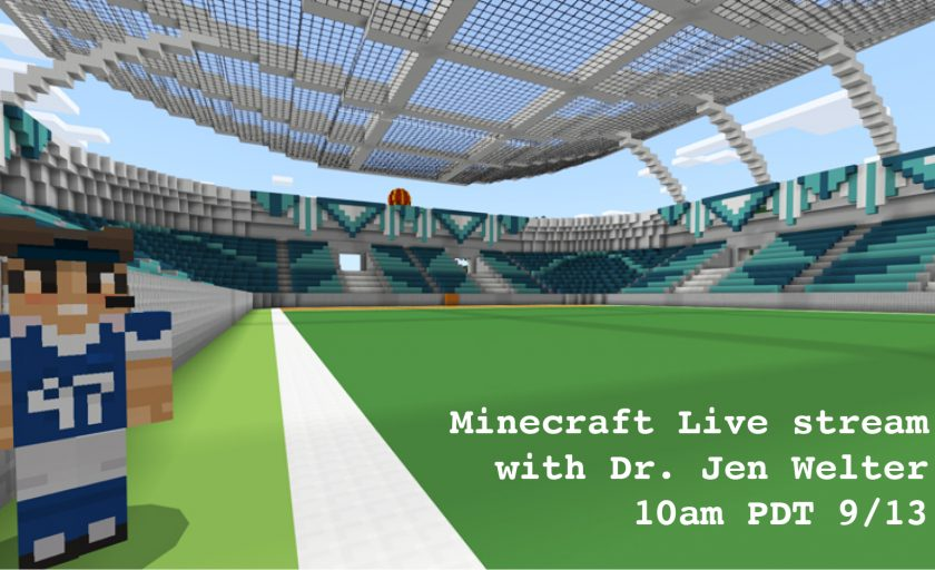 Minecraft Mixer Live Stream with Jen Welter