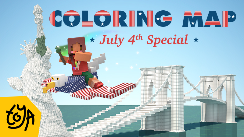 Coloring Map- July 4th Special